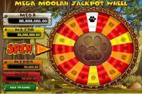 Mega Moolah Bonus Glücksrad