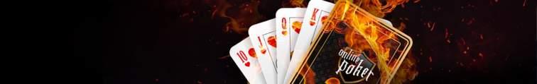 Kartenspiel mit Schriftzug online Poker