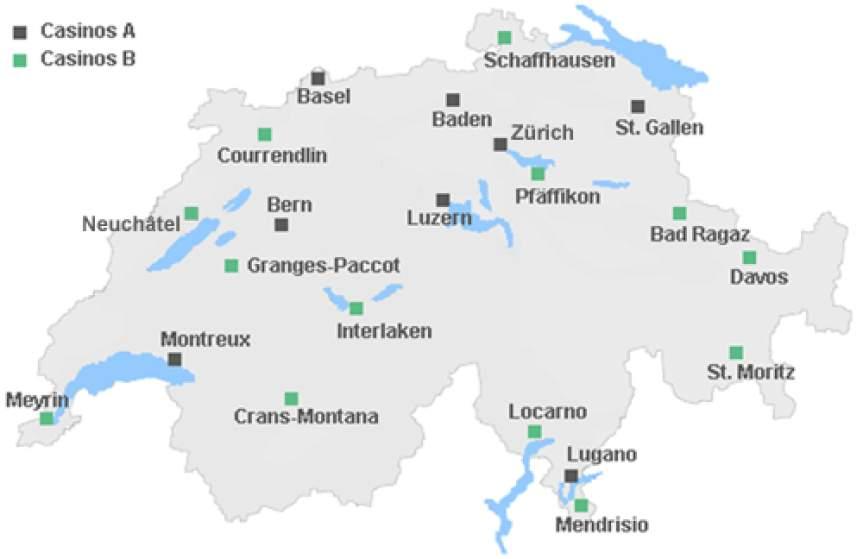 Schweiz A und B Casinos